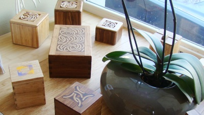 Boxes made from bamboo