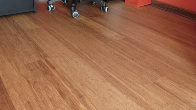 Engineered click strand woven bamboo floor