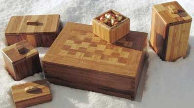strand woven bamboo boxes