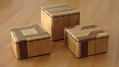Bamboo jewelry boxes
